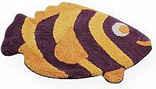 Haus und Deko Badezimmer Teppich Fisch