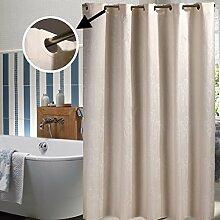 Haus & Vorhang Badezimmer Duschvorhänge, Jacquard Wasserdichte Schimmel Duschvorhänge Hotel Dicker Vorhänge ( Farbe : Bunte , größe : 150W*180H/CM+ring )