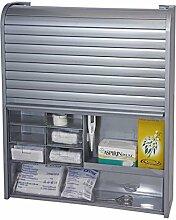 Hausapotheke Medizinschrank Arzneischrank Apothekerschrank Medikamentenschrank (silber)