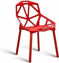 Hausbar Esszimmerstuhl aus Kunststoff Konferenzraum Stuhl aus Schmiedeeisen Stuhl aus Cafestühle Schlafsaal für Studenten Stuhl Geometrisch geformtes Design Stuhlbein aus Stahl Belastungstragend