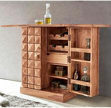 Hausbar SIRA Massivholz Akazie Weinbar ausklappbar