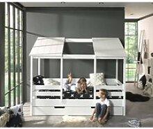 Hausbett ALEXANDRIA-12 Kinderbett mit 90 x 200 cm
