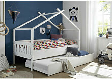 Hausbett Leonie mit Dach - Himmelvorrichtung
