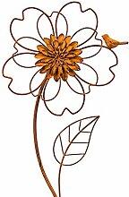 HausderHerzen Gartendeko Blume Rost Stab