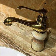 Hause tippen Kupfer Wasserhahn Waschbecken Becken