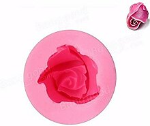 Hausgartenarbeit 3D Rosebud Silikon Backform