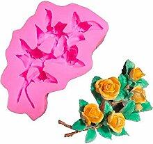 Hausgartenarbeit Rose blumen silikonform fondant