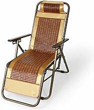 Haushalt atmungsaktiver Mahjong Stuhl Bambus Stuhl Nachmittagsstuhl Klappstuhl Freizeit-Stuhl (Stil optional) ( Farbe : A )