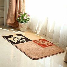 Haushalt Eingang Matten/Tür-fußmatte/Fußabtreter/Schlafzimmer Aufsaugen Des Wassers Skid Pad-A 50x80cm(20x31inch)