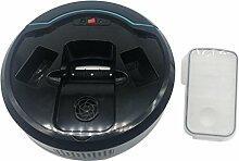 Haushalt Elektrische Kehrbesen, Jaminy Saugroboter Saugrobot Intelligente Roboter Staubsauger Automatische Mini Kehrmaschine Roboter Vacuum Reiniger, Automatischer Kehrmaschine mit Drop-Sensor,Licht (Schwarz)