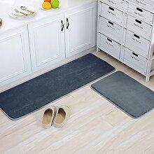 Haushalt Fußmatten/Fußmatte/Wohnzimmer Schlafzimmer Küche Bar Matte/Float Fenster Bett Badematte-A 50x180cm(20x71inch)
