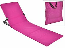 Haushalt International Strandliege, klappbar, pink