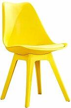 Haushalt Kreative Modernen minimalistischen kunststoff Schreibtisch hocker sessel erwachsenen restaurant Nordeuropa Esszimmerstuhl ( Farbe : Gelb )
