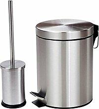 Haushalt Mülleimer Edelstahl Mülleimer Wc Bürste Material Edelstahl Kapazität 8L