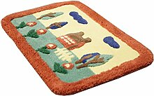 Haushalt Saugfähige Tür-Mat Eintrag Mat Fußmatte Boden Teppich, Orange