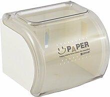Haushalt Toilettenpapierhalter Klosett Plastik Roller Kasten Halter Tissuebox