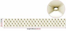 Haushalt Wandtattoos,Jaminy 3D Vintage Leder Textured Wallpaper PVC Wandbild Realistisch Aussehen Wasserdicht Moderne Wanddeko - Design Tapete - Wandtapete - Wand Dekoration 300cm x 40 cm (I)