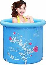 Haushalts-aufblasbare Badewanne Erwachsener oder Kind Faltbare Plastikbadewanne Badewanne Waschbecken-Badewanne, blau (mit Luftpumpe) ( Farbe : A , größe : L )
