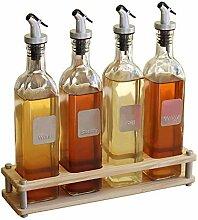 Haushalts-Glas-öL-Topf GewüRz-Flaschen-Set Zum