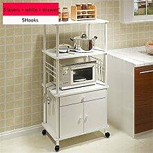 Haushaltsgegenstände Creative Mikrowellenherd Regal Multi-Regal Multifunktionale Küche Regallagerung Rackboden Backofengestell -CRS-ZBBZ ( Farbe : #10 )