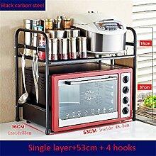 Haushaltsgegenstände Edelstahl-Küche Regal / Mikrowelle Backofen Regal / Ofen Rack / Storage Rack / Gewürz Rack / Boden Werkzeughalter Thicker (Single / Double / Three Layer) -CRS-ZBBZ ( Farbe : #1 )