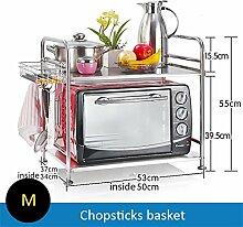 Haushaltsgegenstände Küche Regal Mikrowelle Ofen Rack Lagerung Rack Dicker 304 Edelstahl 2 Tiers / Medium -CRS-ZBBZ