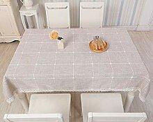 Haushaltsgewebe Tisch Tischdecke Kariert Baumwolle