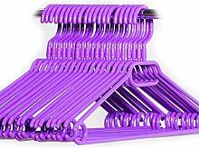 Hauskraft 50 Stück lila Kleiderbügel