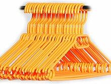 Hauskraft 50 Stück orange Kleiderbügel