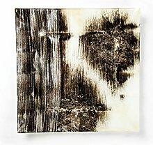 Hausmann & Söhne Deko Schale Glas |Glasteller | Deko Glasschale | Design Schale |Tischdeko | schwarz braun beige silber| Geschenkidee