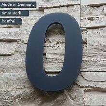 Hausnummer 0 ( 17cm Ziffernhöhe ) in