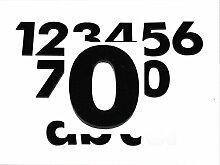 Hausnummer 0 SCHWARZ - HÖHE: 65mm, 3mm dick