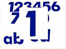 Hausnummer 1 BLAU - HÖHE: 65mm, 3mm dick (KEINE
