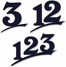 Hausnummer 1-stellig/16cm Ziffernhöhe in