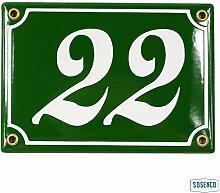 Hausnummer 12x17 cm Hausnummernschild Emaille mit