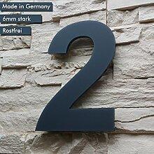 Hausnummer 2 ( 1-stellig / 26cm Ziffernhöhe ) in