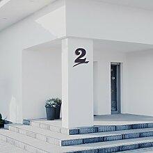 Hausnummer 2 ( 16cm Ziffernhöhe ) in