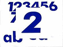 Hausnummer 2 BLAU - HÖHE: 65mm, 3mm dick (KEINE