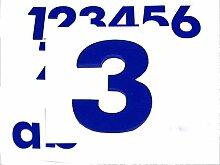 Hausnummer 3 BLAU - HÖHE: 65mm, 3mm dick (KEINE