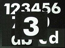 Hausnummer 3 - HÖHE: 65mm, 3mm dick (KEINE dünne