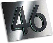 Hausnummer 3D Design Edelstahl Hausnummernschild