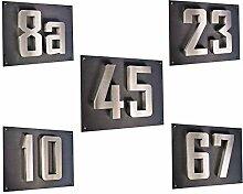 Hausnummer 3D Edelstahl V2A Hausnummerschild