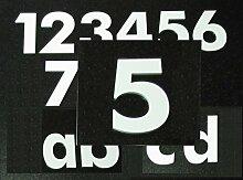 Hausnummer 5 - HÖHE: 65mm, 3mm dick (KEINE dünne
