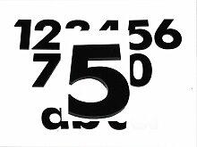 Hausnummer 5 SCHWARZ - HÖHE: 65mm, 3mm dick