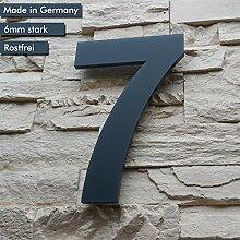 Hausnummer 7 ( 1-stellig / 26cm Ziffernhöhe ) in
