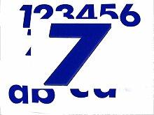 Hausnummer 7 BLAU - HÖHE: 65mm, 3mm dick (KEINE