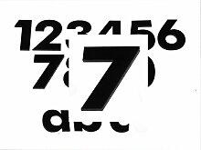 Hausnummer 7 SCHWARZ - HÖHE: 65mm, 3mm dick