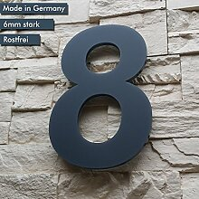 Hausnummer 8 ( 1-stellig / 26cm Ziffernhöhe ) in