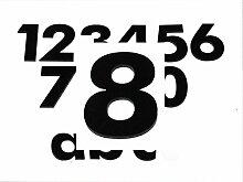 Hausnummer 8 SCHWARZ - HÖHE: 65mm, 3mm dick