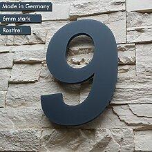 Hausnummer 9 ( 1-stellig / 26cm Ziffernhöhe ) in